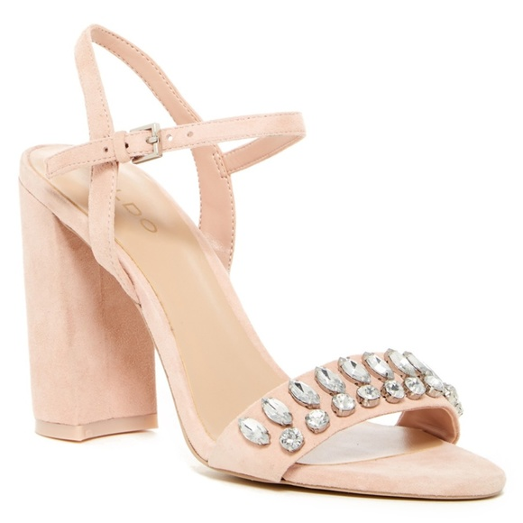 Aldo Shoes - Aldo Womens Suede Open Toe High Block Heel Sandals